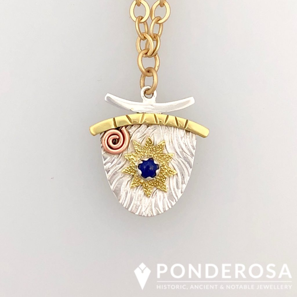 Gold and Silver – Asian Inspired Pendant