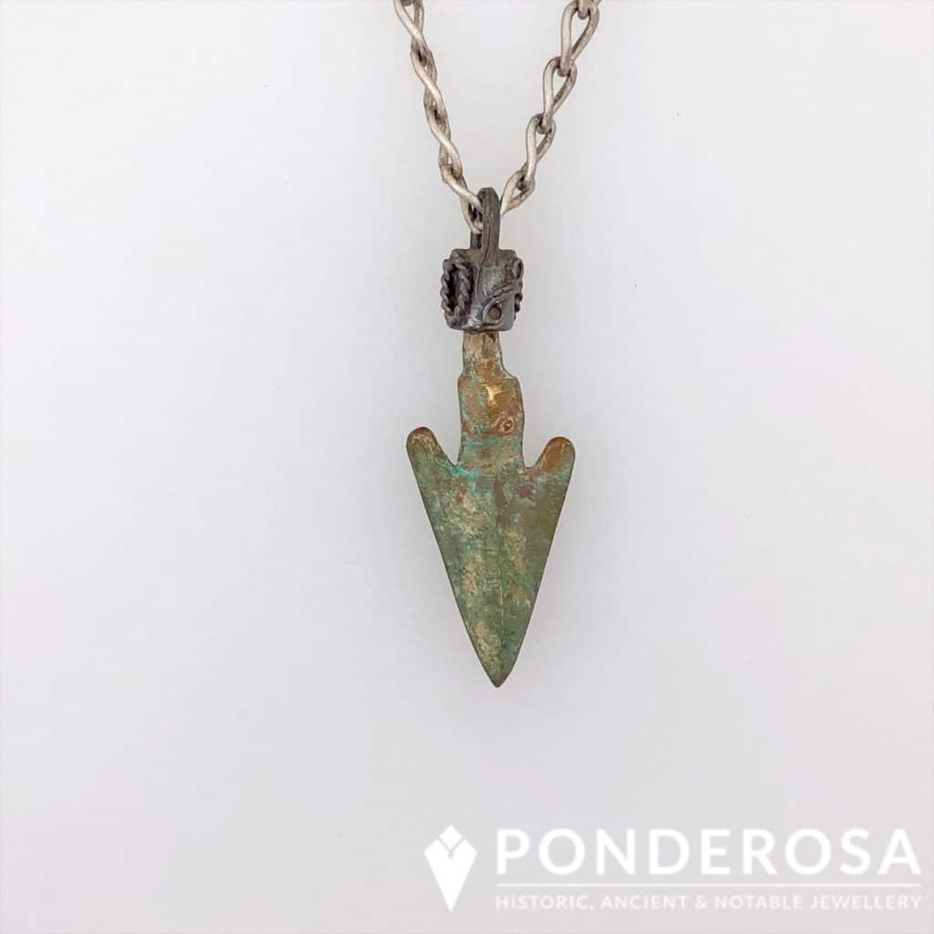 Bronze Arrowhead – Blue & Green Patina