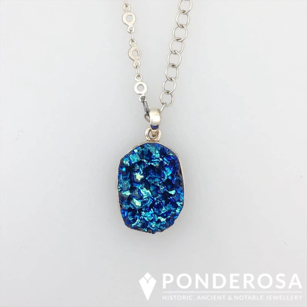 Druzy Stone – Black/Blue