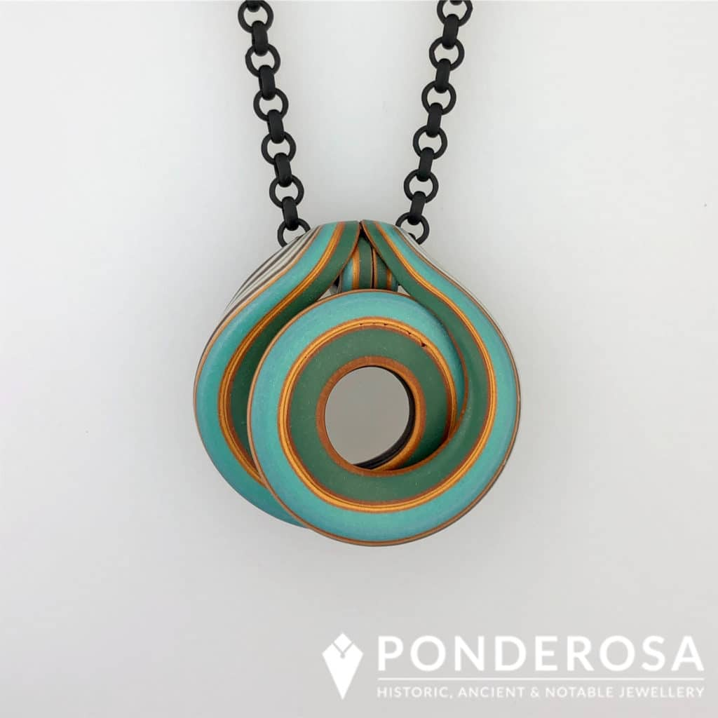 Polymer Clay – Green, Teal and Gold