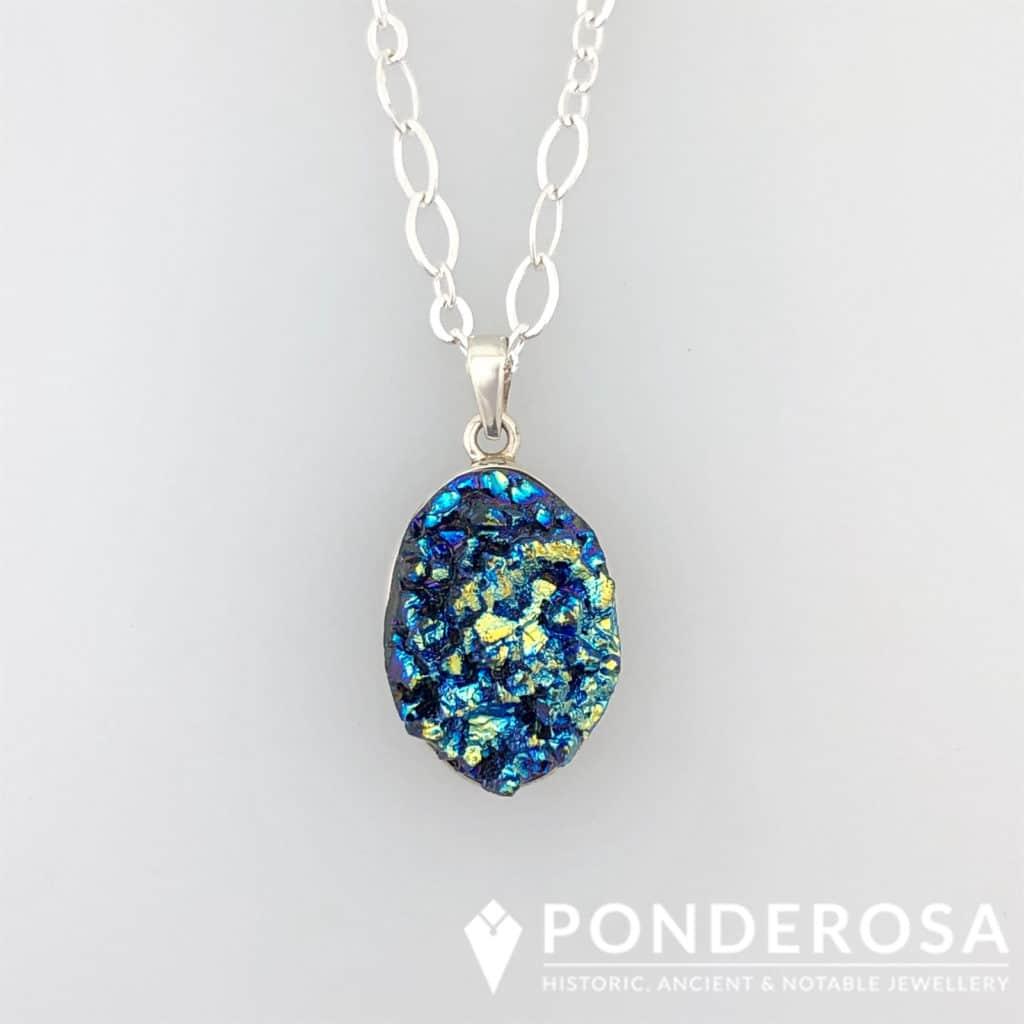 Druzy Stone – Dark Blue