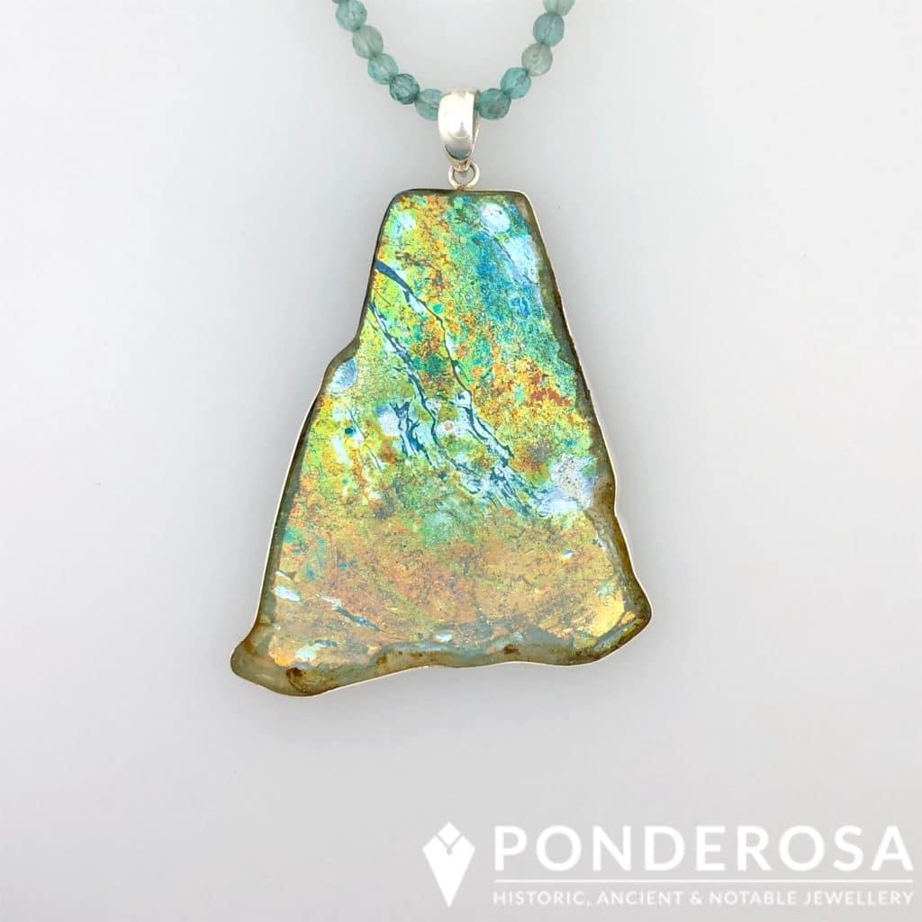 Roman Glass Pendant – Crazy Patina