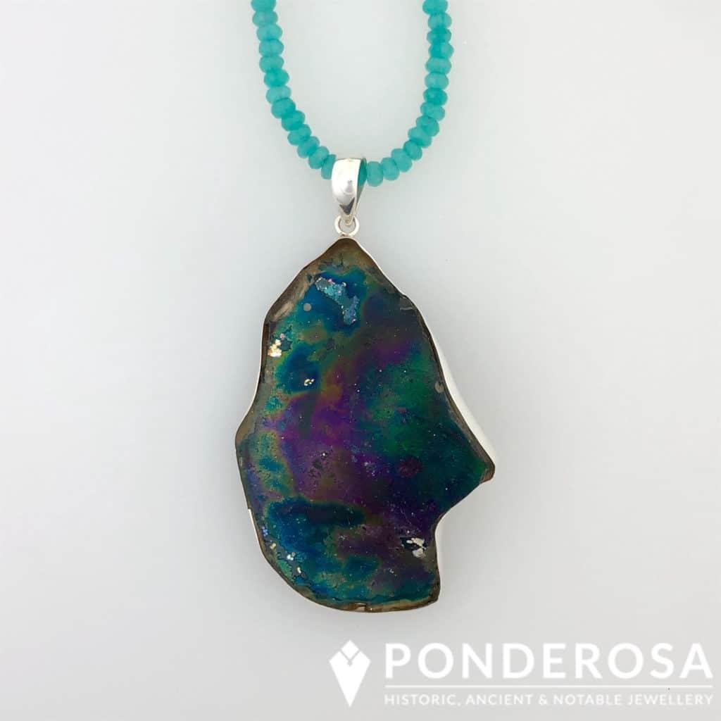 Roman Glass Necklace – Side Globe