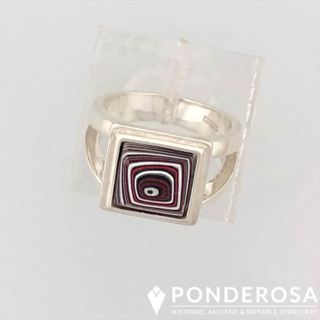 Fordite Ring – Square
