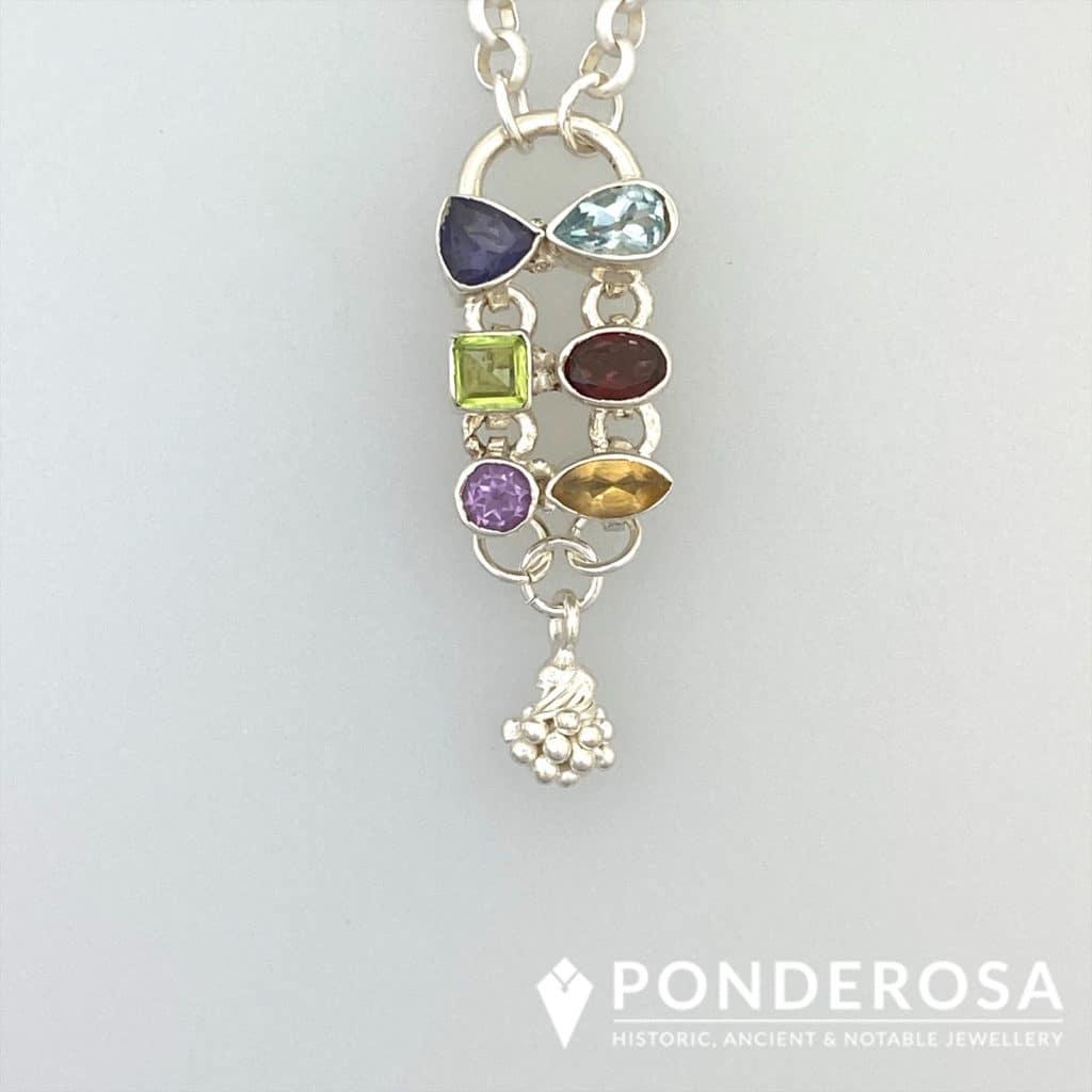 Whimsical Gemstone Pendant